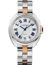 Cartier - Stainless Steel Cl De Watch 35mm - Lyst