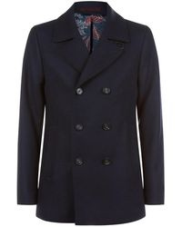 Ted Baker - Wool Pea Coat - Lyst
