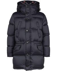 Burberry Puffer Coat - Blue