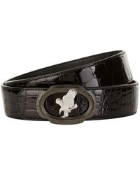 Stefano Ricci - Flying Eagle Patent Crocodile Skin Belt - Lyst