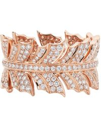 Stephen Webster - Magnipheasant Diamond Pav Feather Ring - Lyst