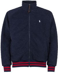 Polo Ralph Lauren Logo-embroidered Cotton-blend Hoody in Blue for ... 2eec9a42329
