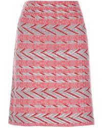 St. John - A-line Mini Skirt - Lyst