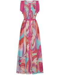 Emilio Pucci - Patterned Maxi Dress - Lyst