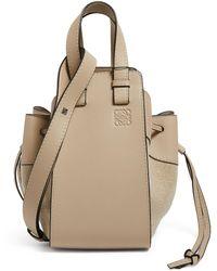 Loewe Small Leather Hammock Drawstring Bag - Natural