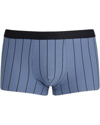 Hanro Shadow Stripe Trunks - Blue