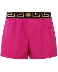 Versace - Logo Band Swim Shorts - Lyst