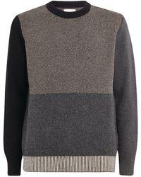 Oliver Spencer Wool Colour-block Sweater - Black