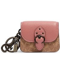 COACH Beat Bag Keyring - Pink