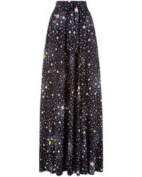 Boutique Moschino - Star Pleated Skirt - Lyst