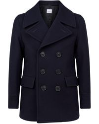 Burberry Double-breasted Pea Coat - Blue