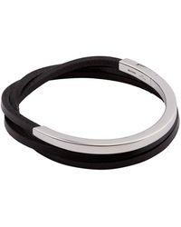 Tateossian - Tripple Wrap Leather Bracelet - Lyst