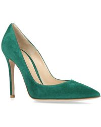 Gianvito Rossi - Suede Gianvito Court Shoes 105 - Lyst