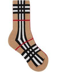 Burberry Check Socks - Brown