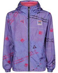 28c4fee71 Nautical Windbreaker Jacket - Purple