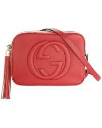 80bf8f793d2b Lyst - Gucci Soho Leather Shoulder Bag in Black