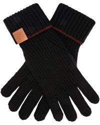 Loewe Wool Gloves - Black