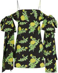 BERNADETTE Timothy Off-the-shoulder Dress - Yellow