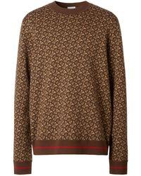 Burberry Monogram Jaquard-knit Sweater - Brown