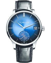 H. Moser & Cie Venturer Big Date Watch 41.5mm - Blue