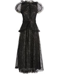 Rodarte Embellished Tulle Dress - Black