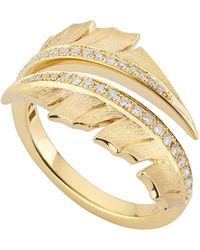 Stephen Webster - Yellow Gold Magnipheasant Pav Diamond Split Ring - Lyst