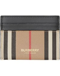 Burberry - Icon Stripe E-canvas And Leather Card Case - Lyst