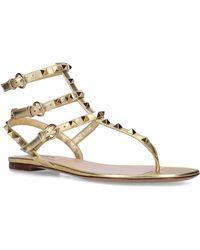 Valentino Garavani Metallic Rockstud Gladiator Sandals