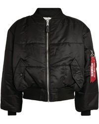 Vetements X Alpha Industries Reversible Cropped Bomber Jacket - Black