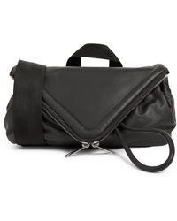 Bottega Veneta Leather Beak Belt Bag - Gray