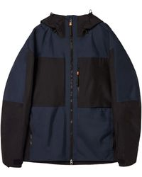 Loewe Hooded Colour-block Parka - Black