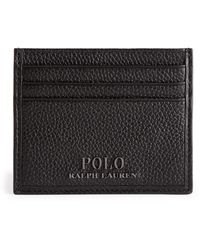 Ralph Lauren Leather Logo Card Holder - Black