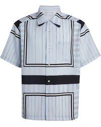 Children of the discordance Scarf Print Short-sleeved Shirt - Blue