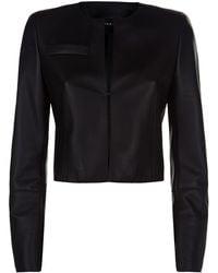 Akris - Cropped Leather Jacket - Lyst