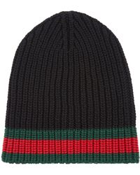 Gucci - Wool Striped Beanie Hat - Lyst