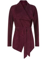 Harrods - Suede Waterfall Jacket - Lyst