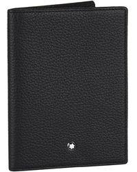 Montblanc Grained Leather Passport Holder - Black