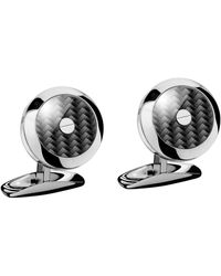 Chopard Stainless Steel And Carbon Fibre Classic Racing Cufflinks - Black