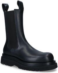 Bottega Veneta Lug Combat Rubberised Chelsea Boots - Black