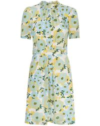 Sandro - Floral Silk Dress - Lyst