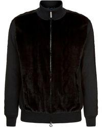Stefano Ricci Mink Front Sweater - Black