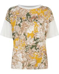 Weekend by Maxmara - Floral Front T-shirt - Lyst