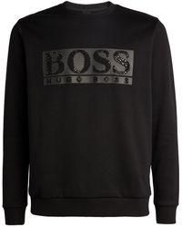 BOSS by Hugo Boss Embellished Logo Sweatshirt - Black