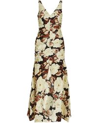 Sir. The Label Floral Vivienne Gown - Natural