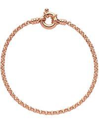 Links of London - Rose Gold Vermeil Mini Belcher Chain Bracelet - Lyst