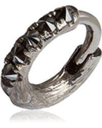 Annoushka - Dusty Diamonds Single White Gold Hoop Earring - Lyst