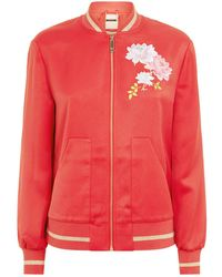 Ted Baker - Ruuthe Embroidered Bomber Jacket - Lyst