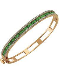 Bee Goddess - Mondrian Emerald Bangle - Lyst