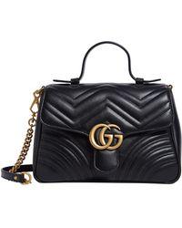 1eb6f06c76d Gucci Marmont Bug Matelass Shoulder Bag in Black - Lyst