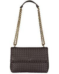 97ff114c8c Bottega Veneta Small Olimpia Shoulder Bag in Purple - Lyst